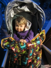 Stay dry and stroll in style with a stroller blanket by Rain Baby Gear.