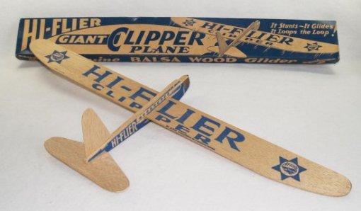 The balsa glider is inexpensive, but what is the true cost?